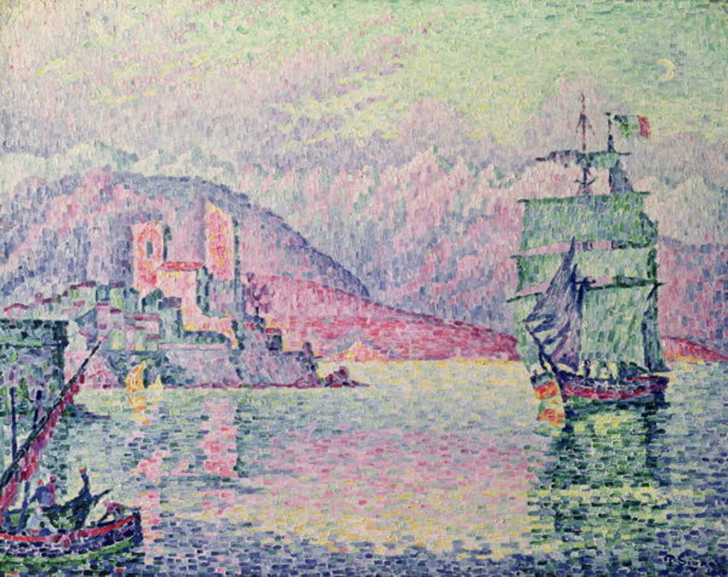 Detail of Antibes, Evening by Paul Signac