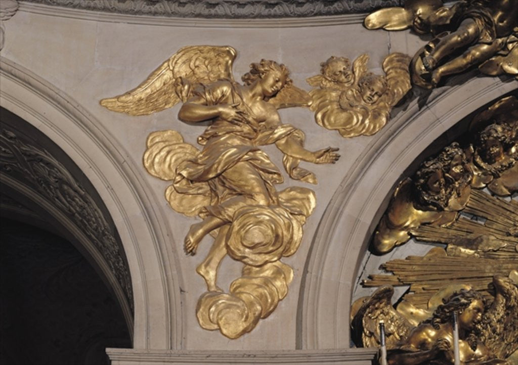 Detail of Louis XIV style angel by French School