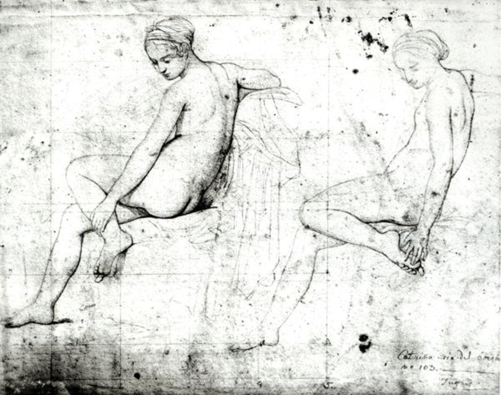 Detail of Study for the Turkish Bath by Jean Auguste Dominique Ingres