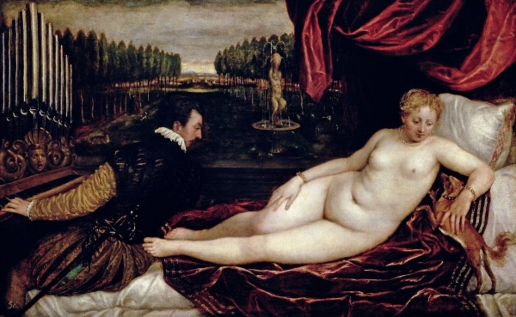 Detail of Venus and the Organist by Titian
