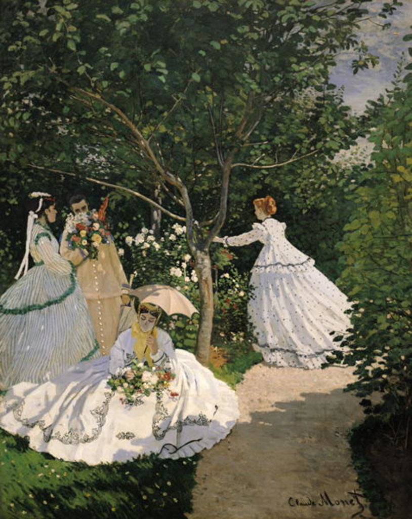 Detail of Women in the Garden by Claude Monet