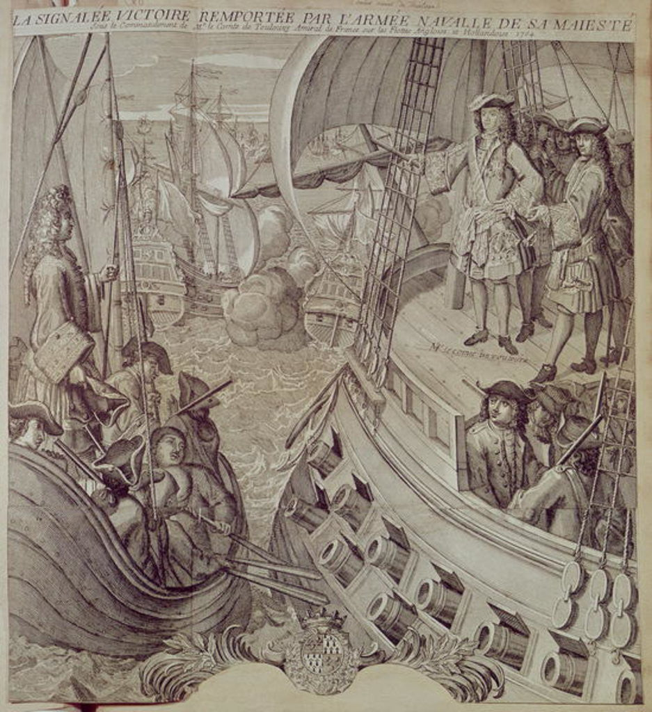 Detail of Victory of the Navy of Louis XIV Against the English and Dutch Fleet in 1704 by French School