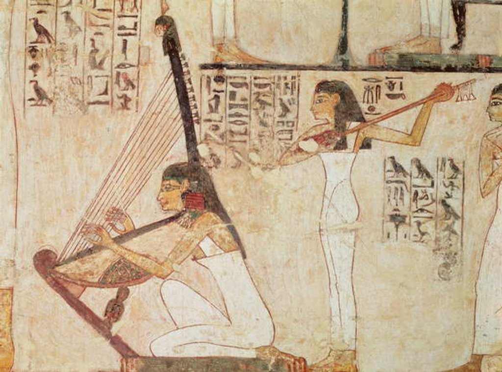 Detail of Two Musicians by Egyptian 18th Dynasty