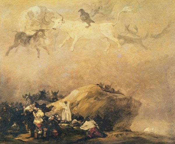 Detail of Capriccio Scene: Animals in the Sky by Francisco Jose de Goya y Lucientes