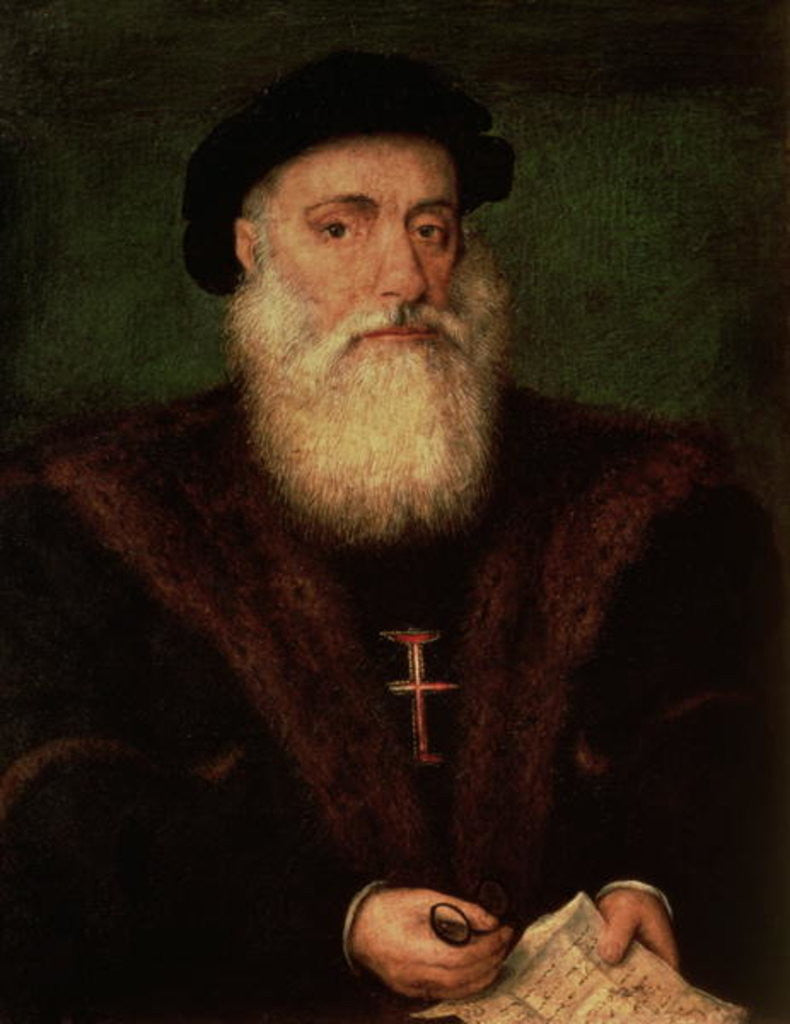 Detail of Portrait presumed to be of Vasco da Gama by Portuguese School