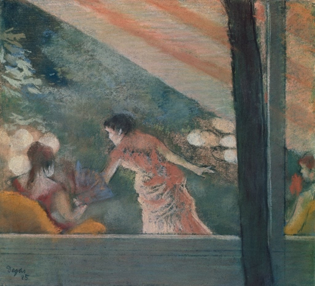 Cafe Concert at the Ambassadeurs by Edgar Degas