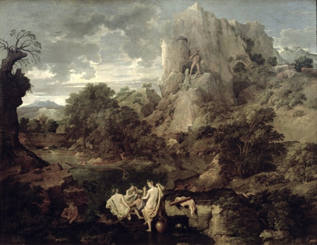Detail of Landscape with Hercules and Cacus by Nicolas Poussin