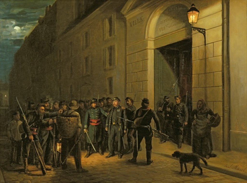 Detail of Arrest of the Generals Lecomte and Clement Thomas during the Paris Commune by Emmanuel Masse