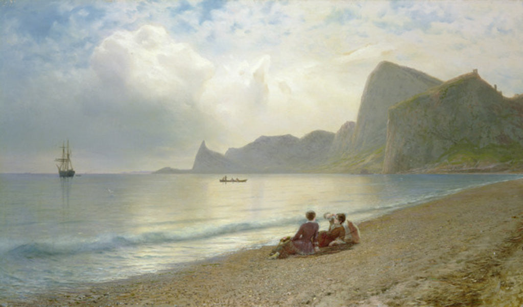 Detail of On the Beach by Lef Feliksovich Lagorio