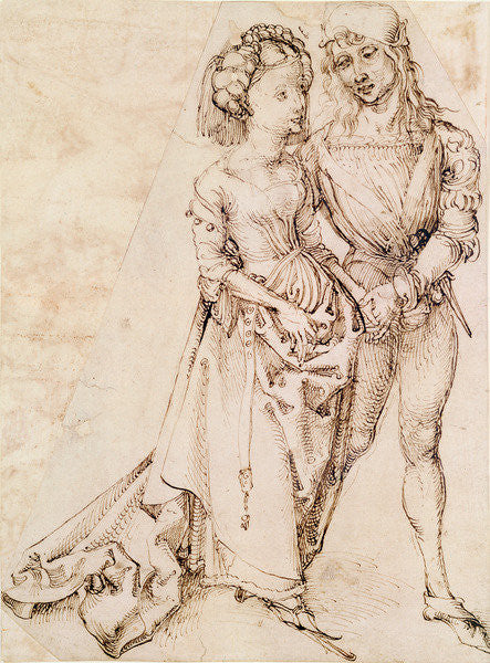 Detail of A Young Couple by Albrecht Dürer or Duerer