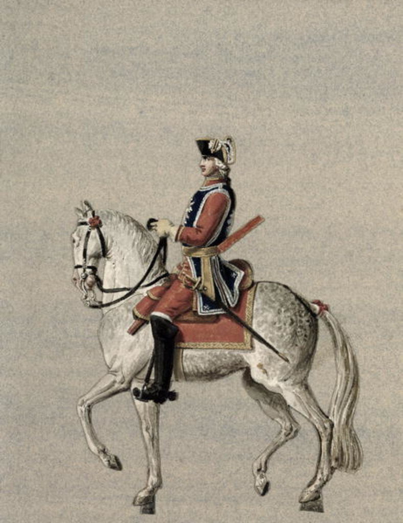 Detail of Equestrian portrait of Prince Charles de Beauveau-Craon by Pierre Antoine Lesueur