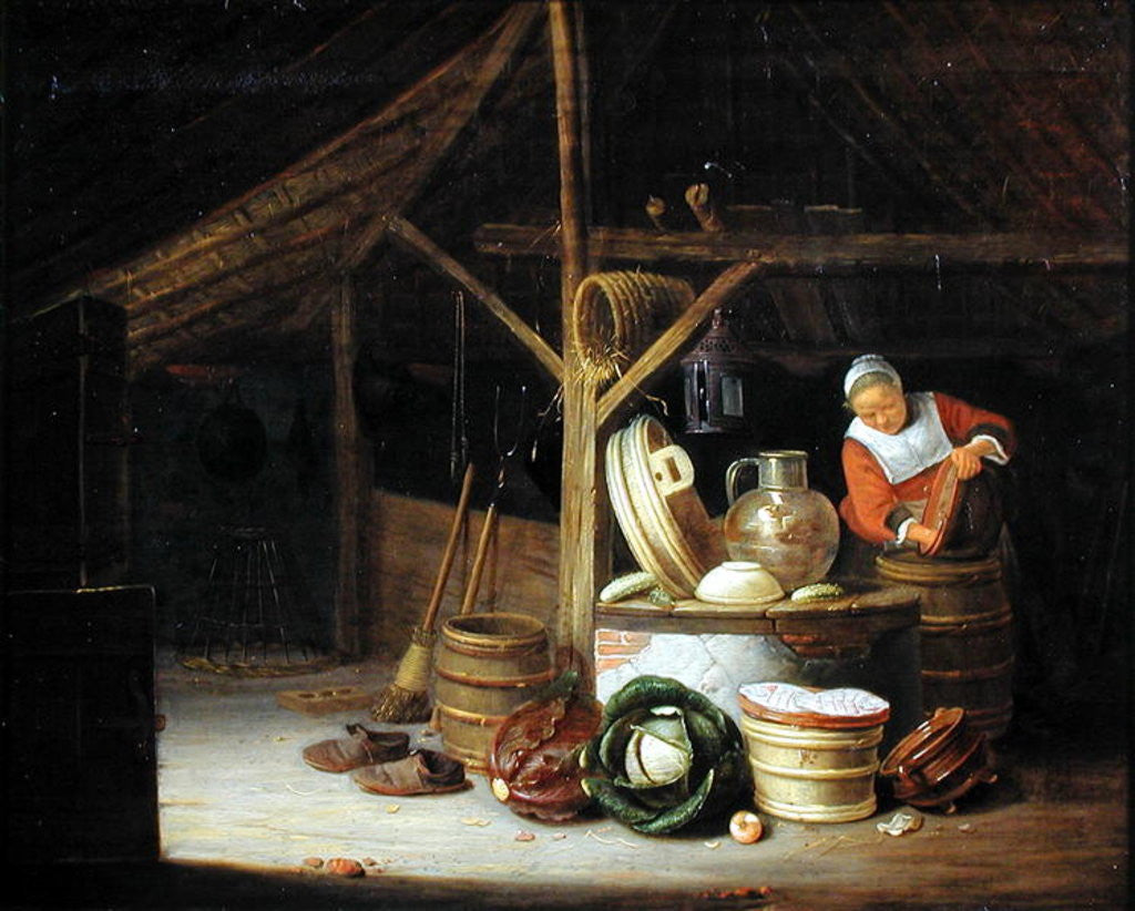 Detail of Kitchen Interior by Hendrik Martensz Sorgh