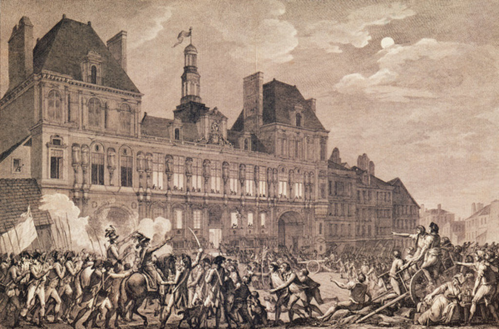 Detail of Robespierre, Saint-Just, Couthon and Hanriot Taking Refuge in the Hotel-de-Ville in Paris, 9 Thermidor Year II (27th July 1794) by Charles Monnet