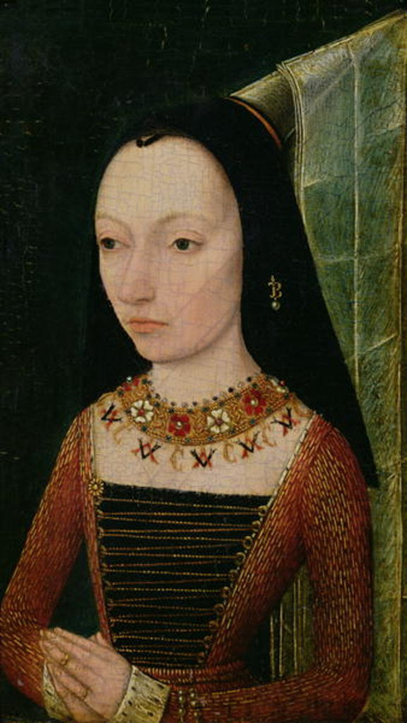 Detail of Margaret of York Duchess of Burgundy by Netherlandish School