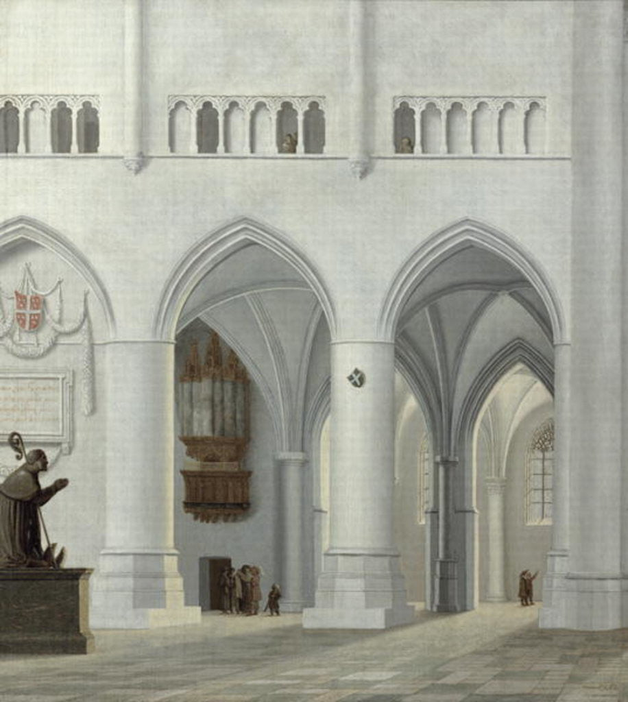 Detail of Interior of the Church of St. Bavo, Haarlem by Pieter Jansz Saenredam