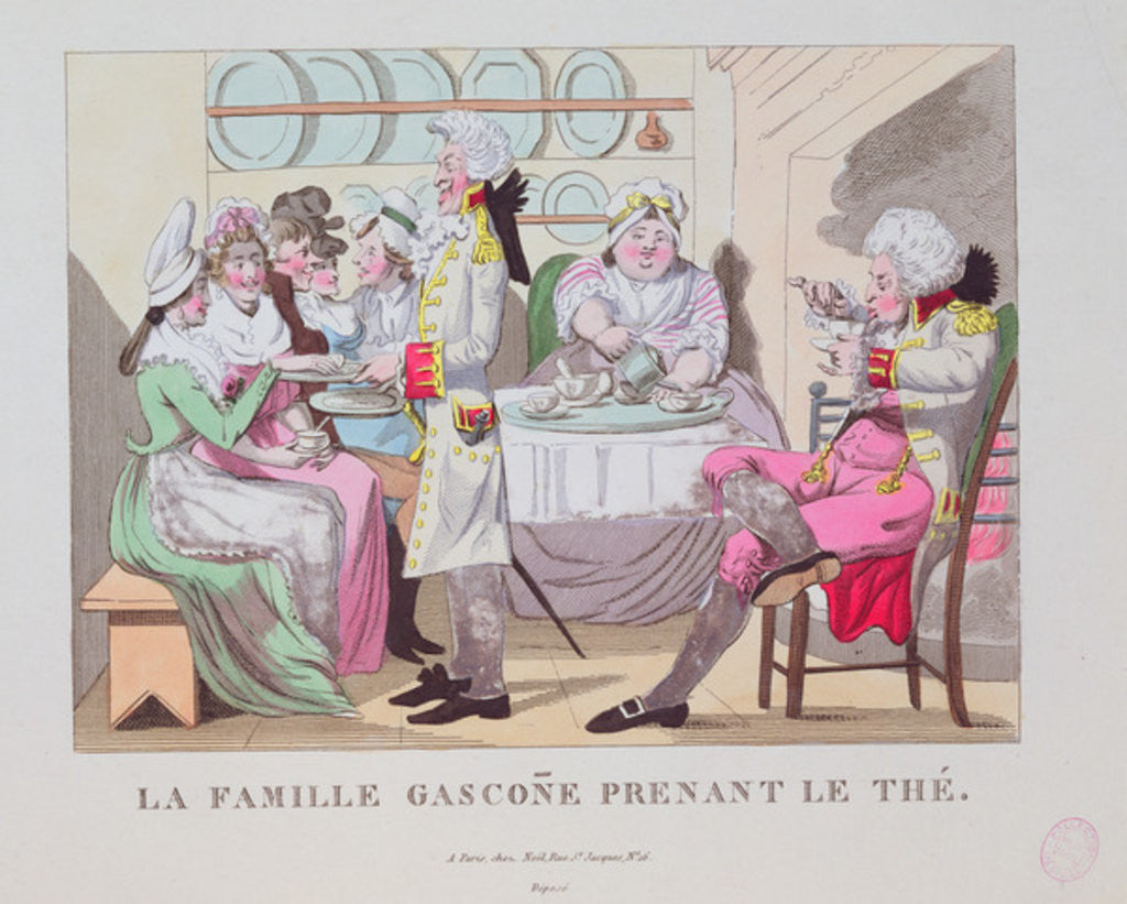 Detail of A Family from Gascony Drinking Tea by French School