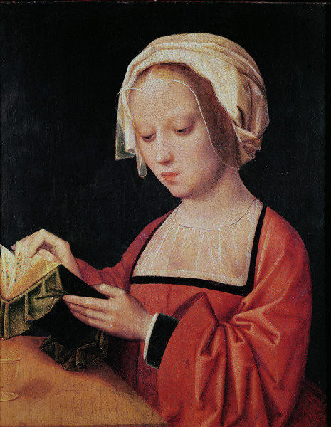 Detail of St. Mary Magdalene Reading by Adriaen Isenbrandt or Isenbrant