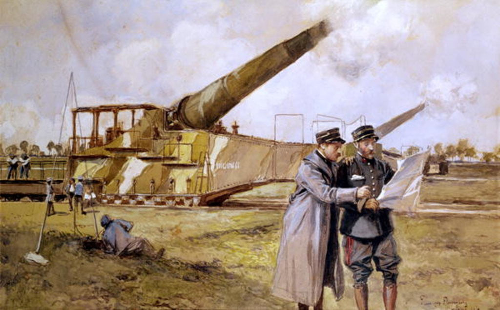Detail of Heavy Artillery on the Railway, October 1916 by Francois Flameng