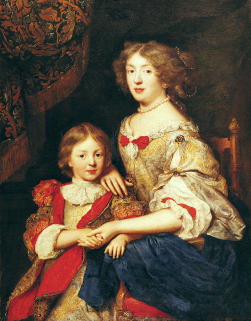 Detail of A Woman and her Son by Pierre Mignard