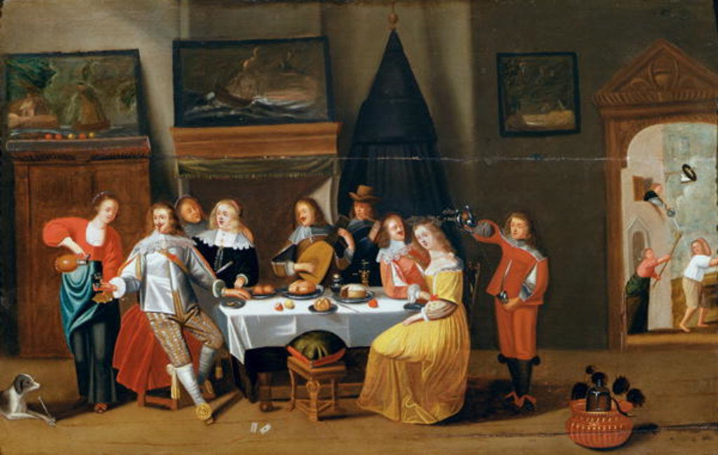 Detail of The Feast by Flemish School