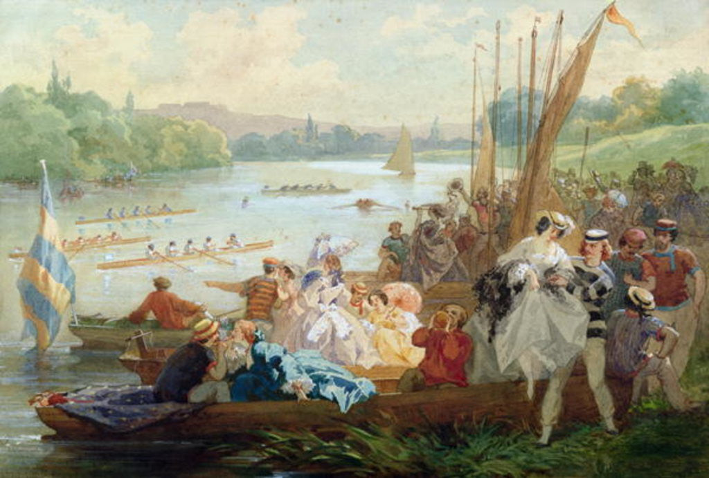 Detail of A Regatta at Asnieres during the Second Empire by Antony Paul Emile Morlon