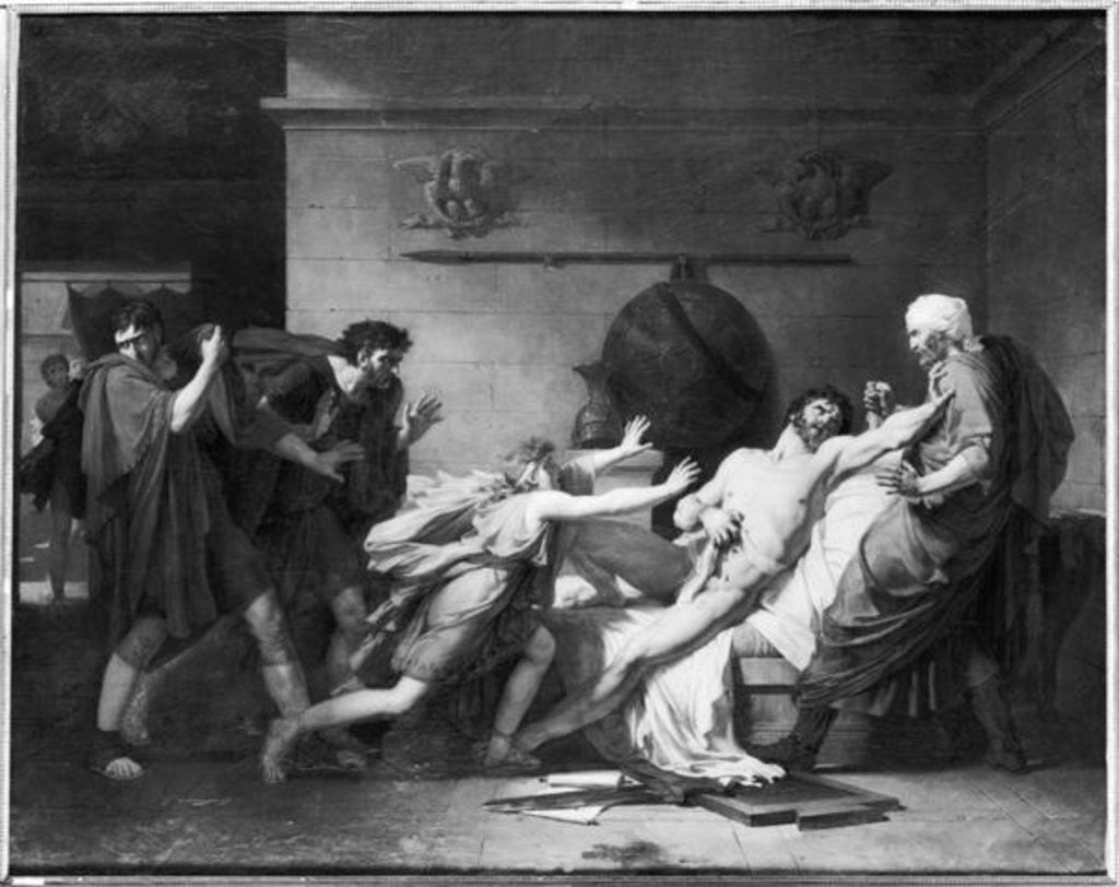 Detail of The Death of Cato of Utica by Baron Pierre-Narcisse Guerin