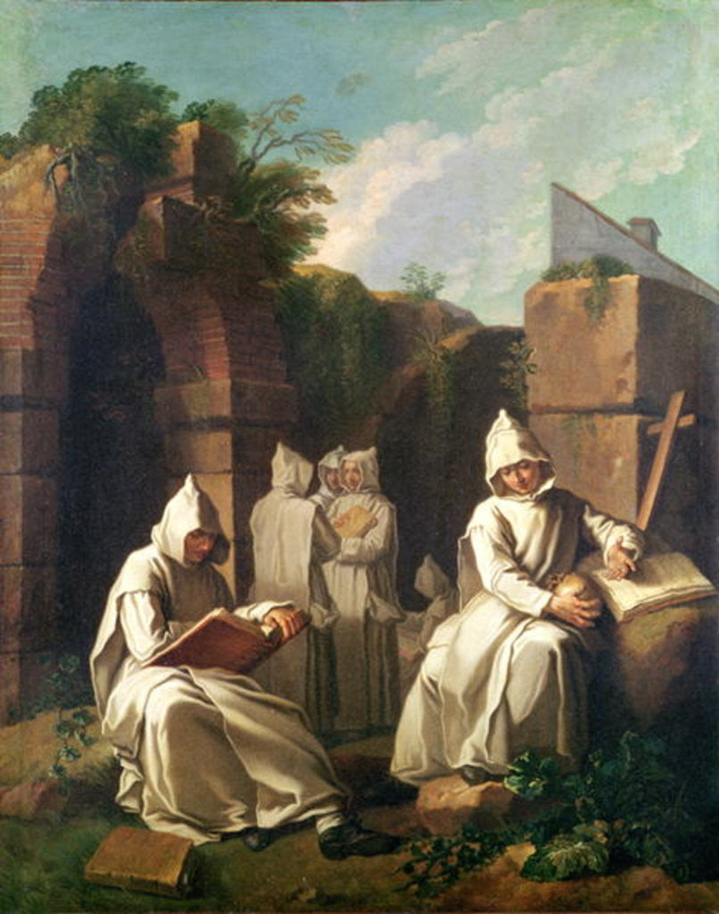 Detail of Carthusian Monks in Meditation by Etienne Jeaurat
