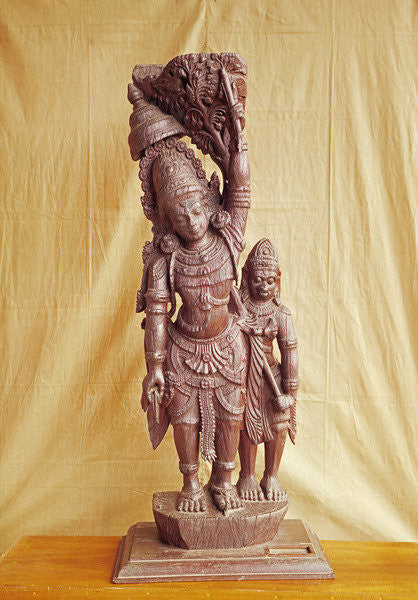 Detail of Sri Rama and Hanuman by Indian School
