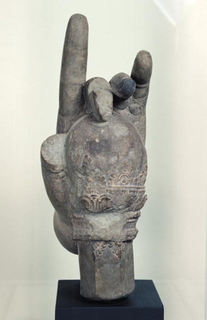 Detail of Hand from a colossal statue of Shiva by Cambodian School