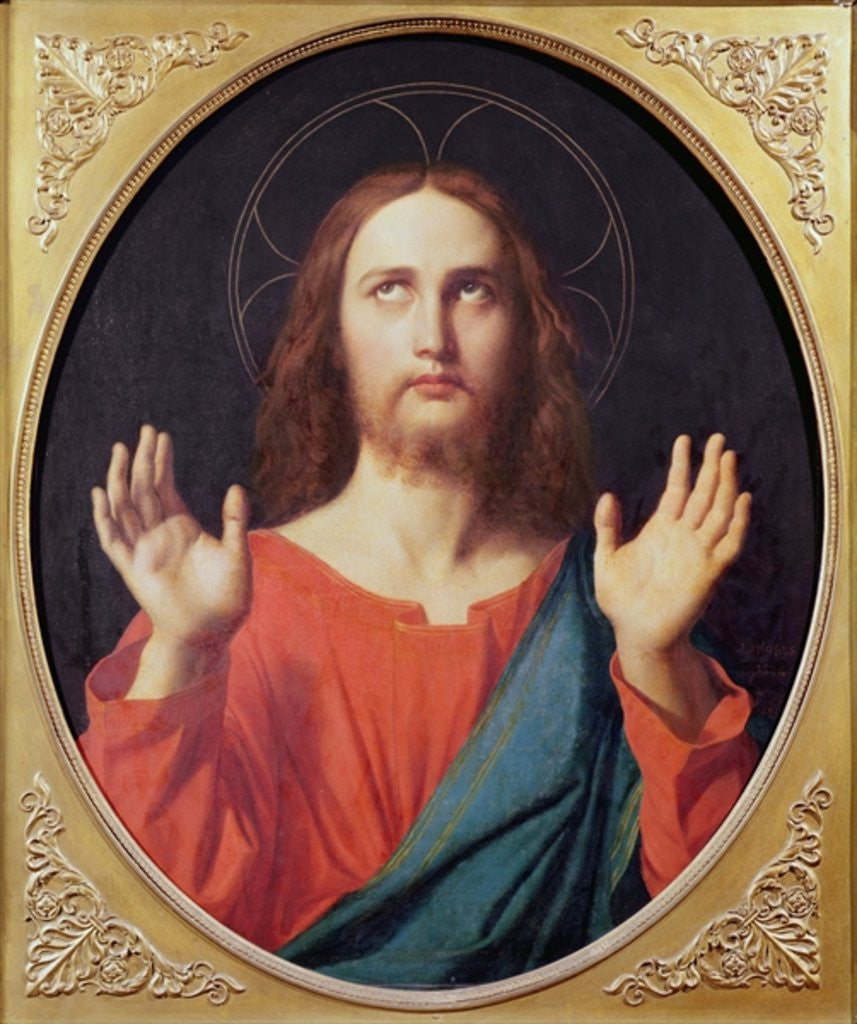 Detail of Christ by Jean Auguste Dominique Ingres
