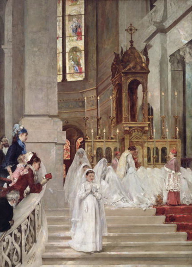 Detail of Communion at the Church of the Trinity by Henri Gervex