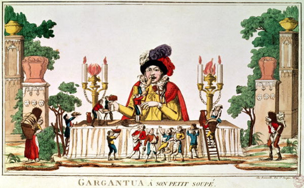 Detail of Gargantua at his Little Supper by French School