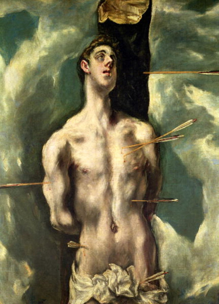 Detail of St. Sebastian by El Greco