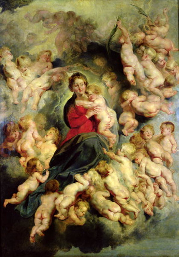 Detail of The Virgin and Child surrounded by the Holy Innocents or, The Virgin with Angels by Peter Paul Rubens