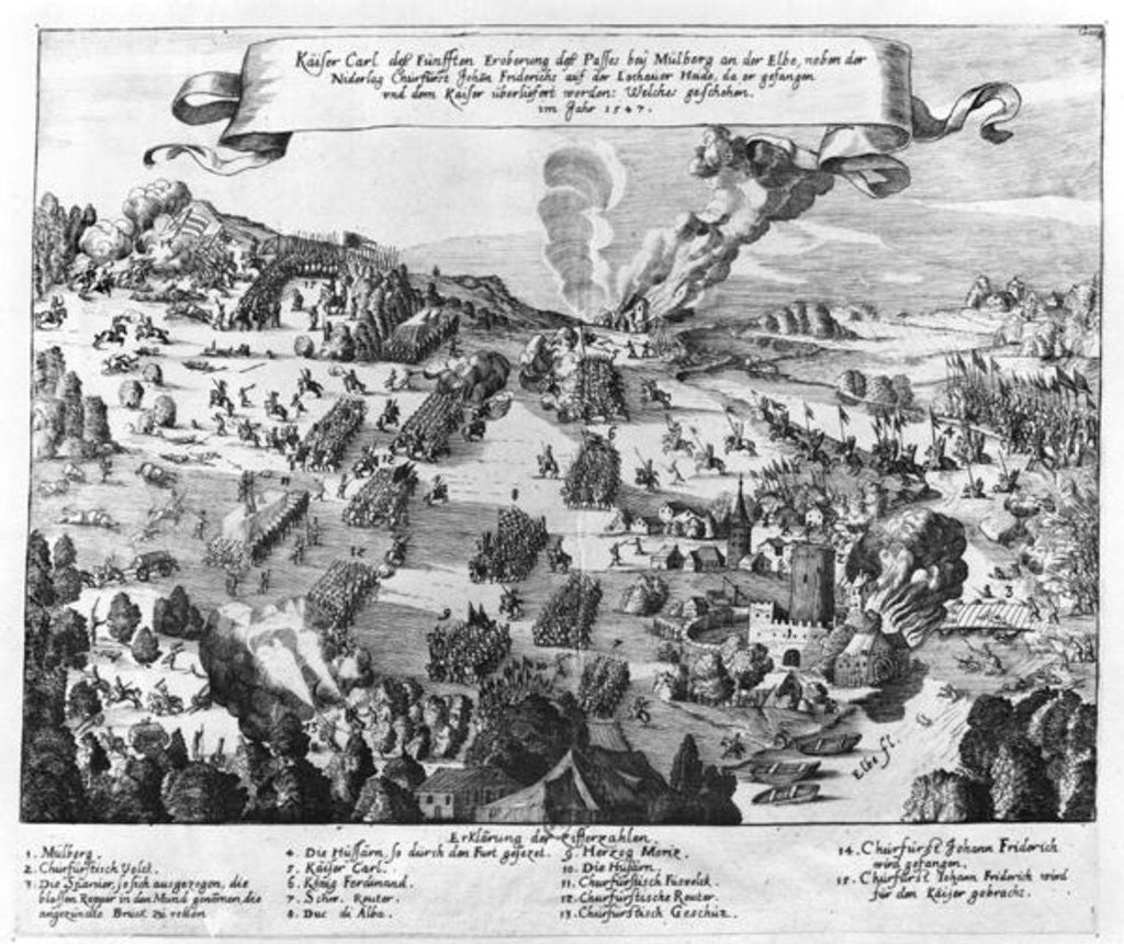 General view of the battle of Muhlberg