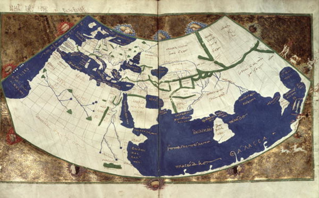Detail of Map of the known world by Ptolemy