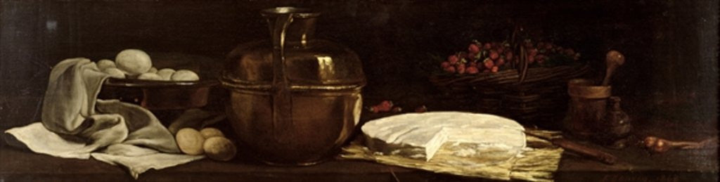 Detail of Still Life with Brie by Francois Bonvin