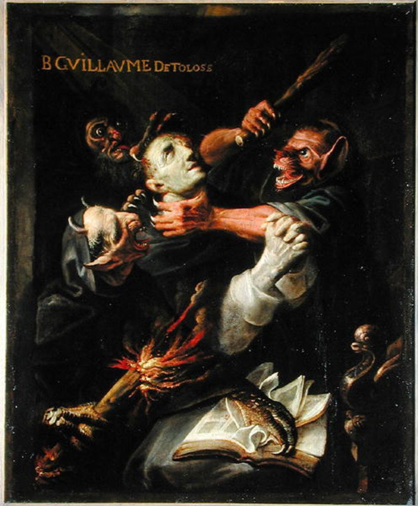Detail of The Blessed Guillaume de Toulouse Tormented by Demons by Ambroise Fredeau