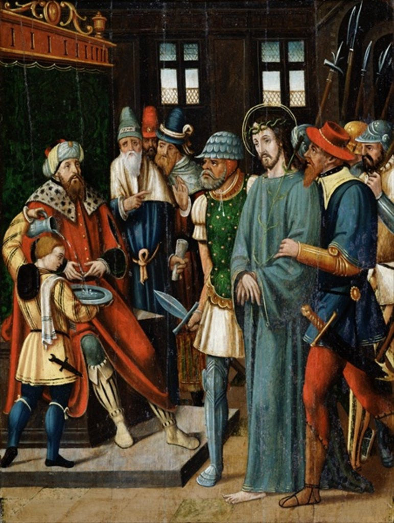 Detail of Jesus Before Pilate by French School