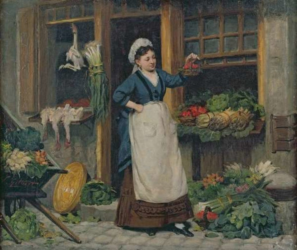 The Fruit Seller Posters & Prints By Victor Gabriel Gilbert
