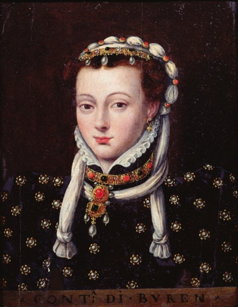 Detail of Portrait of Anne de Buren by Sir Anthonis van Dashorst Mor