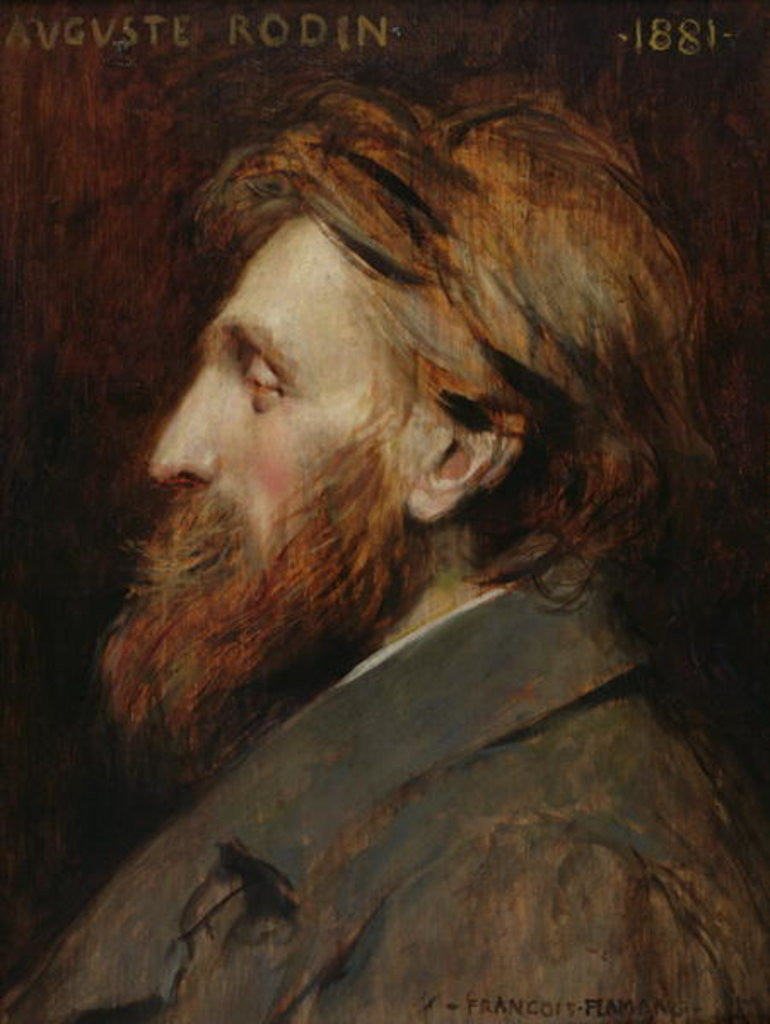 Detail of Portrait of Auguste Rodin by Francois Flameng