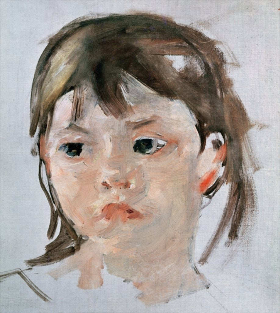 Detail of Head of a Young Girl by Mary Stevenson Cassatt