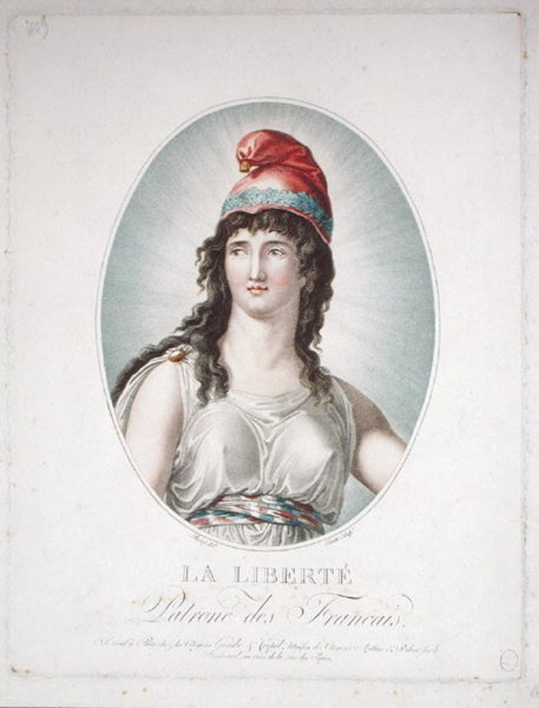 Detail of Liberty, Patron of the French, engraved by Ruotte by Simon Louis Boizot