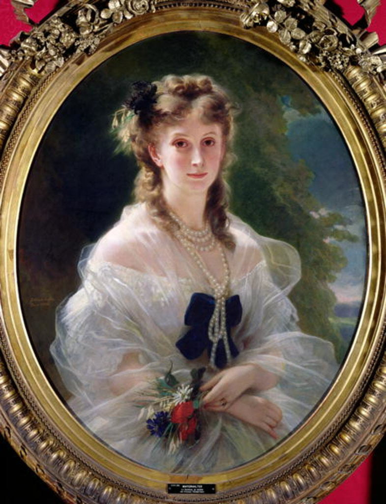Detail of Portrait of Sophie Troubetskoy Countess of Morny by Franz Xaver Winterhalter