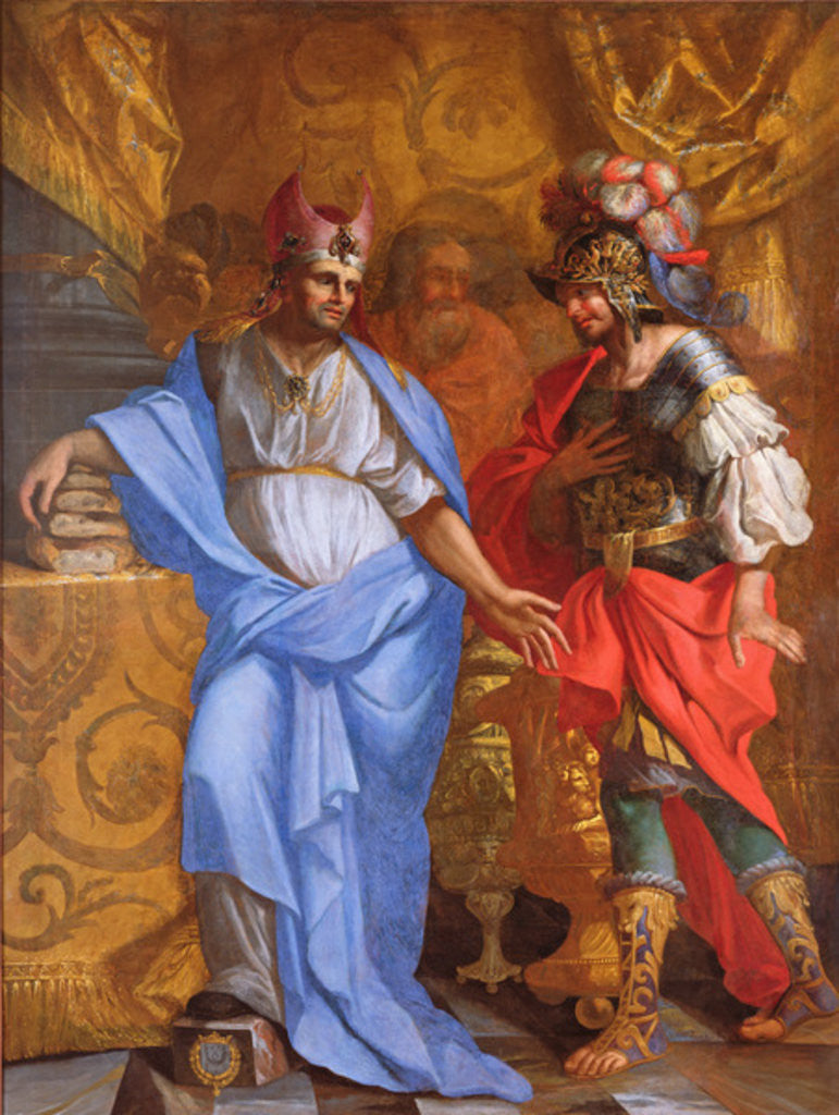 Detail of Meeting between Abraham and Melchizedek by French School