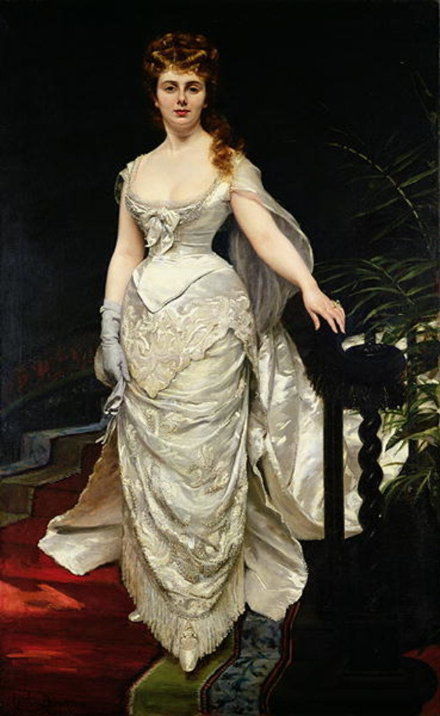 Detail of Portrait of Mademoiselle X by Charles Emile Auguste Carolus-Duran