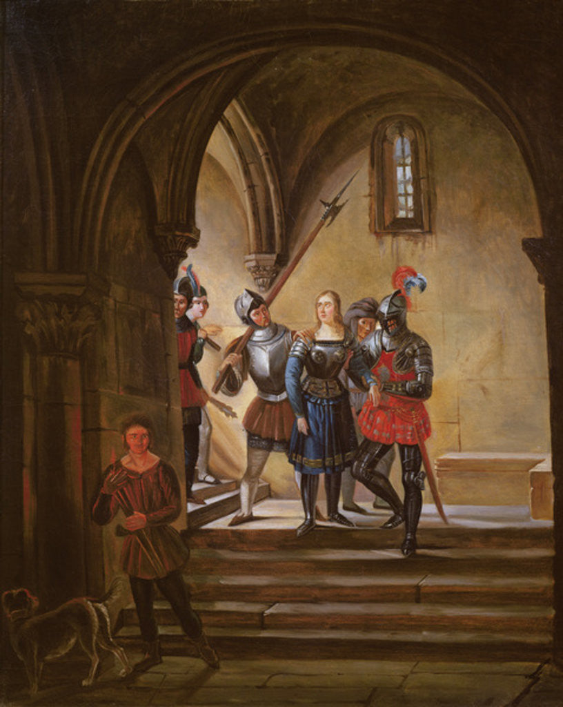Detail of Joan of Arc Led to Prison by French School