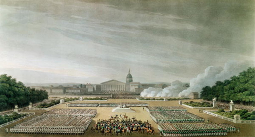 Detail of Ceremony of the Te Deum by the Allied Armies in Louis XV Square, Paris, on 10th April 1814 by English School