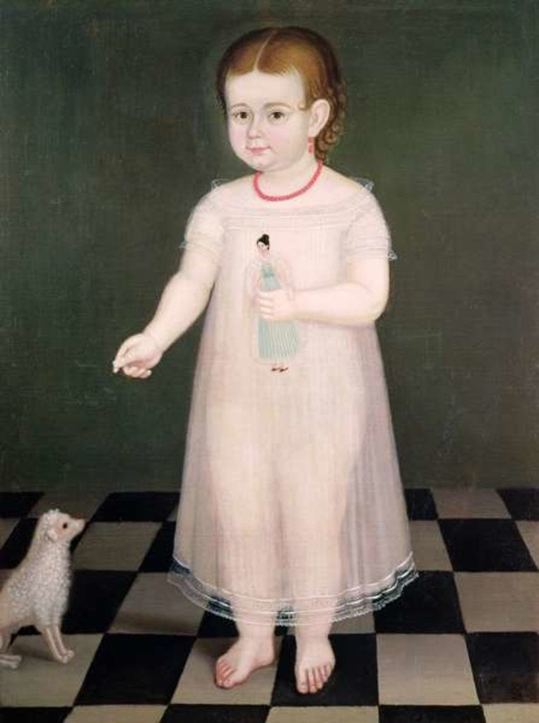 Detail of Young Girl with a Doll by Jose Maria Estrada
